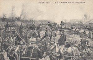 YSER, Belgium, 1914; Le Roi Albert zux avant-postes