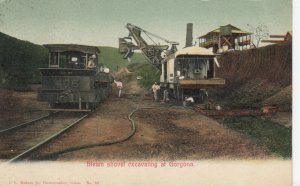 Steam Shovel excavating at GORGONA , Panama Canal Zone , 1909