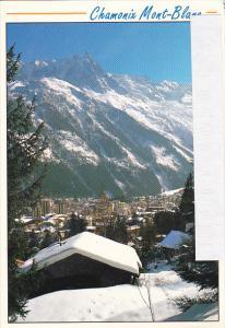 Vue generale et le Massif du Mont-Blanc Chamonix Mont-Blanc France
