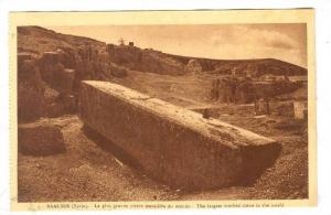 BAALBEK (Syrie), now Lebanon, 1910-30s ;  Worked stone