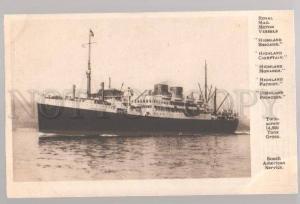 097614 Ship Royal Mail Motor Vessels Highland Brigade Vintage