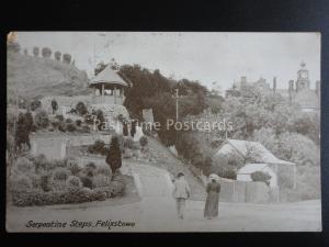 Norfolk FELIXSTOWE Serpentine Steps c1906 Postcard by The Christchurch Series