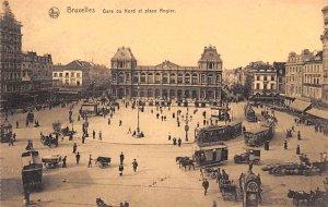 Gare du Nord et Place Rogler Bruxelles Belgium Unused