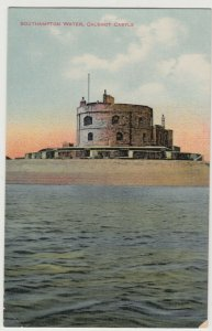 Hampshire; Southampton Water, Calshot Castle PPC By CJ Bealing, Unused, c 1910