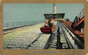 Shooting The Shoots, Coney Island, Brooklyn, N.Y., Early Postcard, Used in 1907