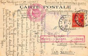 Les Sables D'Clonne France Leguerre Prisoners Postmark Postcard
