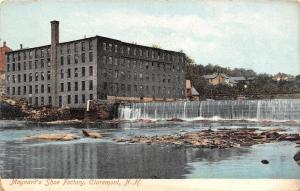 Claremont New Hampshire~Maynards Shoe Factory~Dam. Mill 1910 Postcard