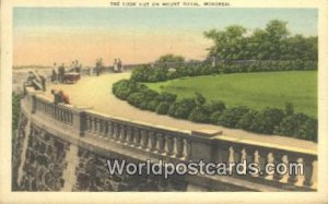 Lookout on Mount Royal Montreal Canada 1950