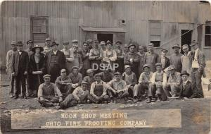 B89/ Haydenville Ohio Postcard RPPC c1910 Nat Fireproofing Pottery Occupational3