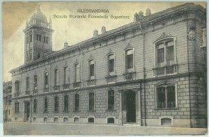 96925  - CARTOLINA d'Epoca - ALESSANDRIA citta' - Scuola Feminile SUPERIORE 1907