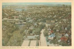 Air View of Sydney Cape Breton Nova Scotia Canada W/B