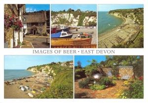 Images of Beer, East Devon Multi View Postcard, Seaton Bay, Boats, Garden 35E