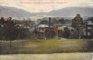 Newburgh NY Hudson Highlands Buildings From Downing Park c1910