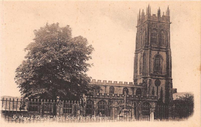 NORTH PETHERTON SOMERSET UK ST MARYS CHURCH~EXTERIOR~INTERIOR LOT OF 3 POSTCARDS