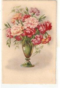 Beautiful flowers in vase Nice Spanish postcard 1050s