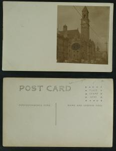 Unidentified Richardson Romanesque bldg USA or Canada RPPC