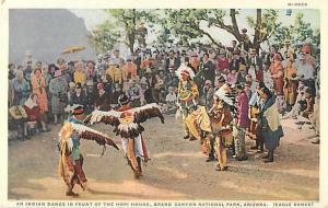 Indian Dance in Front of Hopi House & Tourists Arizona, AZ