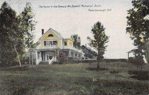 LPS18 Peterborough New Hampshire Edward McDowell Home Memorial Ass'n Postcard