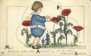 Artist Signed Margaret Evans Price, Series 98 B 1917 crease right top corner ...