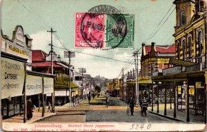 Johannesburg South Africa Postcard used 1927 Multi Franked