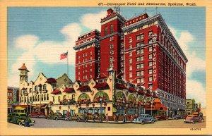 Washington Spokane The Davenport Hotel and Restauirant Curteich