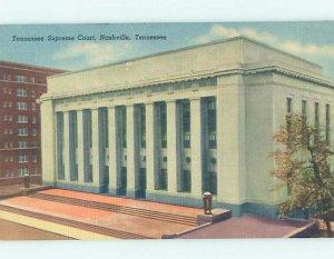 Linen COURTHOUSE SCENE Nashville Tennessee TN AF0045