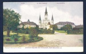 Jackson Square & Monument New Orleans Louisiana unused c1907