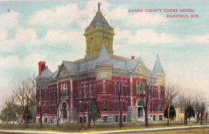 HASTINGS NEBRASKA ADAMS COUNTY COURT HOUSE POSTCARD 1910s