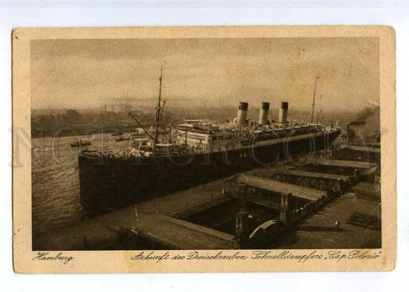 190551 GERMANY HAMBURG ship CAP POLONIO Vintage postcard