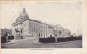 State House And Hooker Monument, BOSTON, Massachusetts, 1900-1910s