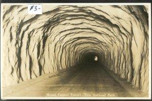 pc13670 postcard Zion National Park Tunnel RPPC MOBSC