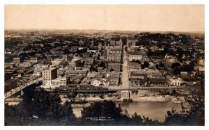 Aerial View of Parkersburg West VA , Star Grocer Co. Logan Carriage Co.,  RPC