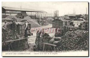 Postcard Old Mine Mining Company Charbonniers Station Site Chapel TOP