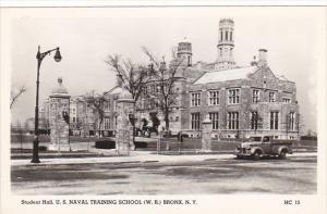 New York Bronx Student Hall Naval Training School Real Photo