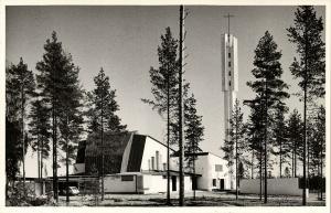 finland suomi, IMATRA, Иматра, Kolmen Ristin Kirkko (1950s) RPPC