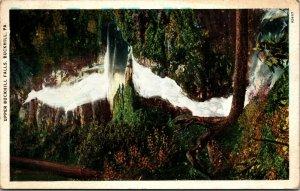 Pennsylvania PA Buckhill Upper Falls Postcard Old Vintage Card POSTED POSTCARD