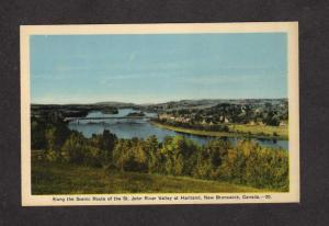 NB St John River Valley Hartland New Brunswick Canada Carte Postale Postcard