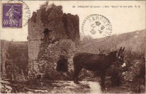 CPA CROZANT - L'ane Bijou et son gite (121616)