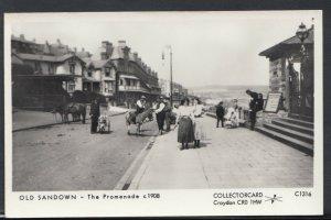 Isle of Wight Postcard - Old Sandown - The Promenade c1908  -  RS8497
