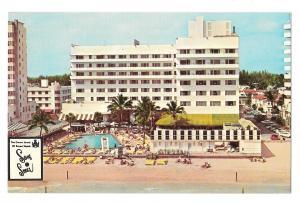 Sans Souci Hotel Resort Miami Florida Swimming Pool View Vintage Postcard