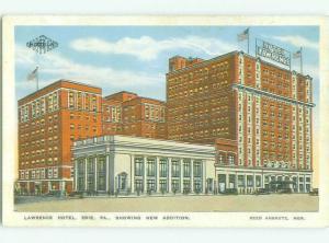 W-Border LAWRENCE HOTEL Erie Pennsylvania PA HQ4740