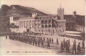 Monaco- Troops Pradibg Before Palace