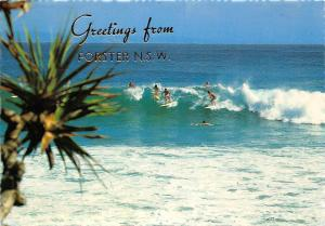 Australia Greetings from Forster N.S.W Surfers Sea Waves