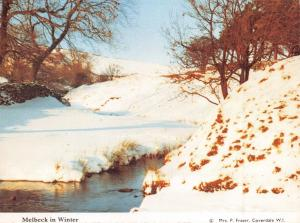Postcard Melbeck, Coverdale, North Yorkshire in Winter N63