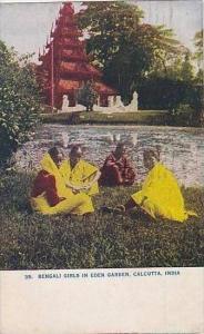 India Calcutta Bengali Girls In Eden Garden 1909
