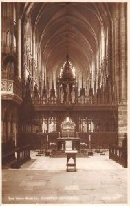 uk4096 chester cathedral the rood screen  real photo  uk