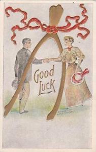 Good Luck Couple With Wishbone