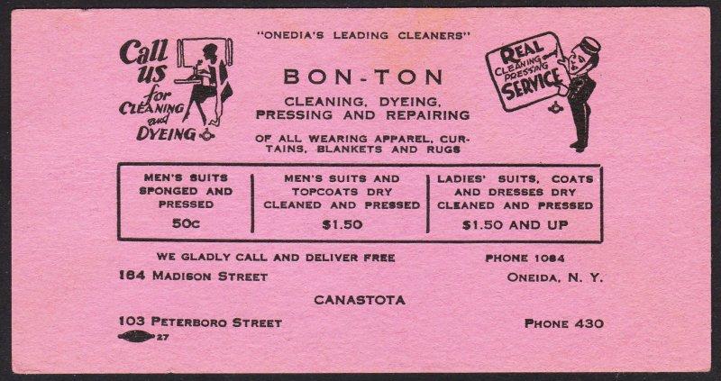 Canastota / Oneida NY – Bon Ton cleaners blotter