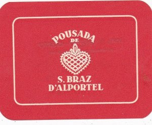 Portugal D'Alportel Pousada De San Braz Luggage Label sk4603