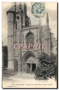 Old Postcard Aix en Provence Cathedrale St. Sauveur XIII century